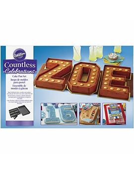 Wilton Countless Celebrations Cake Pan Set, 10 Piece Letter And Number Cake Pan by Wilton