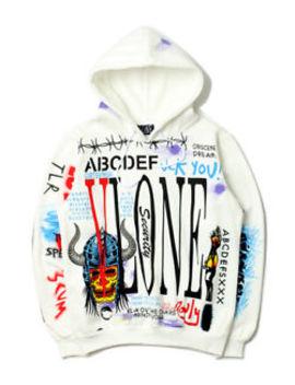 New 18 Aw Vlone Graffiti Sweats Hoodies Mens Baseball Coats Jackets Sweatshirt by Vlone
