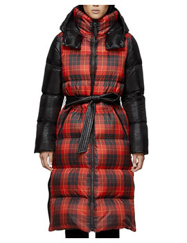 Haiko Buffalo Plaid Long Puffer Coat by Mackage
