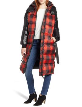Plaid Down Hooded Jacket by Mackage