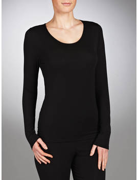 John Lewis & Partners Long Sleeve Heat Generating Thermal Top, Black by John Lewis & Partners