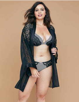 Front Close Boost Plunge Bra With Lace by Lane Bryant