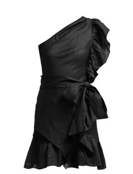 Teller One Shoulder Frill Mini Dress by Isabel Marant Étoile