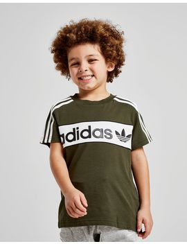 Adidas Originals Linear Colour Block T Shirt Children by Adidas Originals