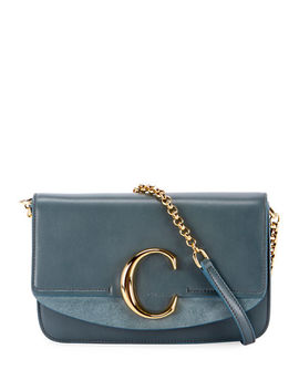 C Mini Shiny Calf Shoulder Bag by Chloe