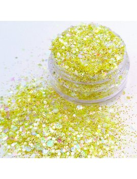 Limoncello   Yellow Silver And Gold Metallic And Iridescent Cosmetic Glitter For Face Body Festival & Creative Makeup Crafts And Slime by Etsy