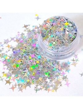 Body Glitter   Brightest Starz   4 Point Star Glitter   Holographic Glitter   Silver Glitter   Cosmetic Glitter Makeup   Craft Glitter Slime by Etsy