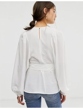Asos Design Oversized Top With Belt Detail by Asos Design