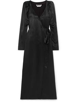 Satin Wrap Dress by Rotate