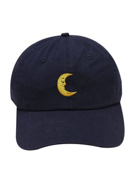 Capsule Design Moon Cotton Baseball Dad Caps Navy by Etsy