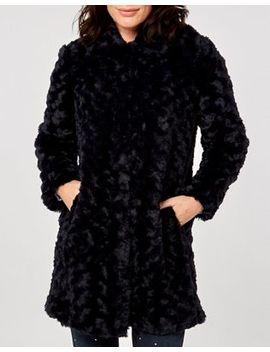 Dorothy Perkins   Midnight Swirl Faux Fur Coat by Dorothy Perkins