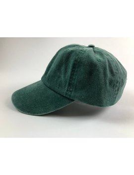 Unisex Green Dad Cap Baseball Hat Plain Blank Washed Distressed Low Profile Twill Cotton by Etsy