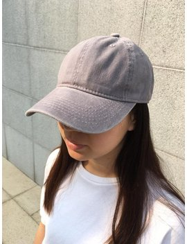Grey Washed Baseball Cap / Dad Hat / Pigment Dyed Hat / Baseball Cap For Men And Women / Unisex Cap / Washed Baseball Hat by Etsy