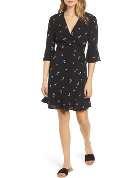 Aimee Ruffle Detail Wrap Dress by Rails