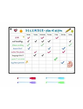 Versatile Magnetic Chore Chart By Smart Panda   Family Whiteboard For Responsibility, Action Planner, Reward Board. Perfect For Exercise, Study, Activity, Diet, Kids   Includes 4 Pens by Smart Panda