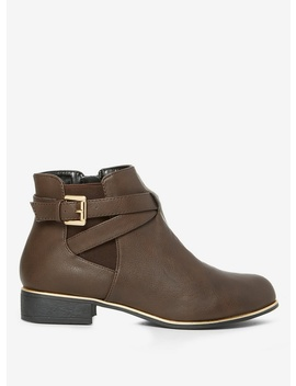Chocolate 'mission Jodpur' Boots by Dorothy Perkins