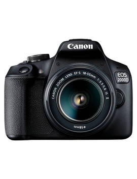 "Canon Eos 2000 D Digital Slr Camera With 18 55mm F/3.5 5.6 Is Lens, 1080p Full Hd, 24.1 Mp, Wi Fi, Nfc, Optical Viewfinder, 3"" Lcd Screen, Black by Canon"