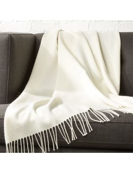 Alpaca Ivory Throw by Crate&Barrel