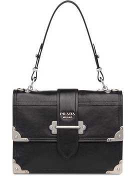 Prada Cahier Printed Leather Handbag by Prada