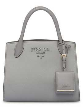 Monochrome Saffiano Leather Bag by Prada