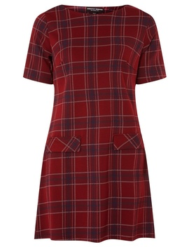 Wine Red Checked Tunic by Dorothy Perkins