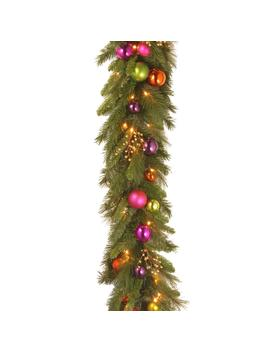 6 Ft. X 16 In. Kaleidoscope Garland With 50 Warm White Led Battery Operated Lights by National Tree Company