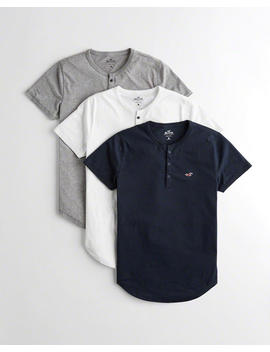 Must Have Henley T Shirt 3 Pack by Hollister