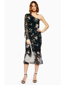 **One Shoulder Midi Dress By Hope & Ivy by Topshop