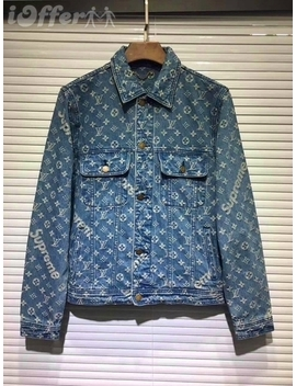 Supreme Men's Denim Jacket Hoodies Sweaters Outerwear by I Offer