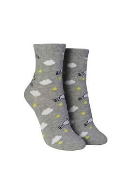Unicorn Print Crew Socks by Forever 21