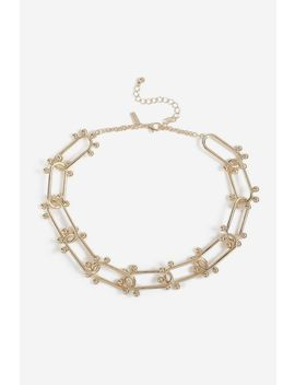 **Oval Link Ball Necklace by Topshop