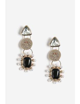 Lion Head Pearl Earrings by Topshop