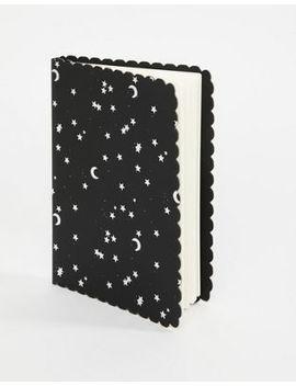 Typo A5 – Buffalo – Schwarzes Notizbuch Mit Mond  Und Sternmotiv by Asos