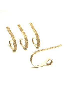 2.5 In. Steel Gold Glitter Mantle Clip Stocking Holder (4 Pack) by Original Mantle Clip