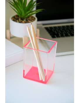 Lucite Pencil Holder by Forever 21