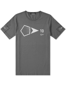 Stone Island Shadow Project 10th Anniversary Print Graphic Tee by End.
