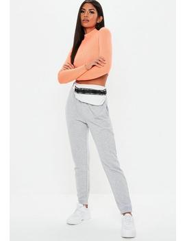 Grey Marl Basic Joggers by Missguided