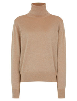 Roll Neck Merinos Lurex Knit by Joseph