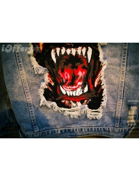 2018 New Givenchy Mens Rottweiler Ripped Jeans Jacket by I Offer