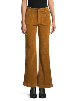 Wide Leg Flared Corduroy Pants by Free People