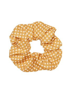 Mustard Polka Dot Scrunchie by Sportsgirl