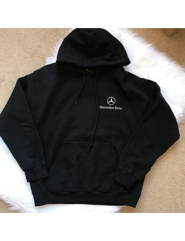 Mercedes Benz Pullover Logo Hoodie Medium by Gildan