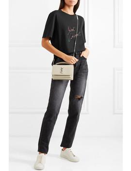 T Shirt En Jersey De Coton Imprimé by Saint Laurent