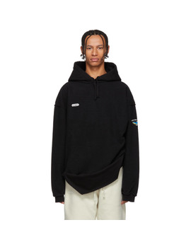 Pull à Capuche Noir Inside Out Shark by Vetements