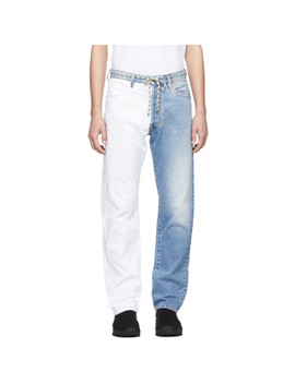 Blue & White Pascal Lilly Jeans by Aries