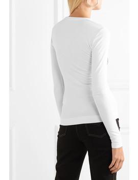 T Shirt En Jersey Stretch à Broderies by Versace