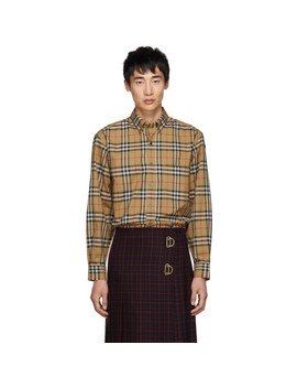 Beige Vintage Check Shirt by Burberry