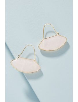 Geo Crescent Hoop Earrings by Anthropologie