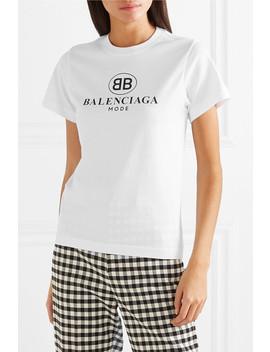 T Shirt En Jersey De Coton à Logo by Balenciaga