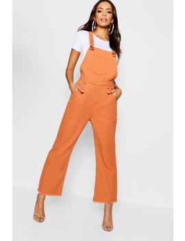 Tobacco Horn Button Deni Dungaree by Boohoo